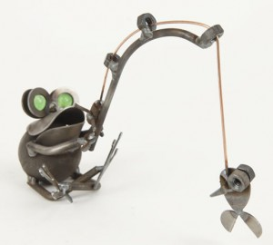 Yardbirds Fishing Metal Frog #C377
