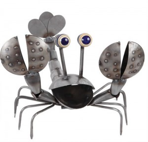 Metal Lobster Sculpture by Yardbirds, #C409