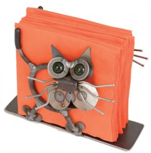 Cat Metal Napkin Holder by Yardbirds Item #F146