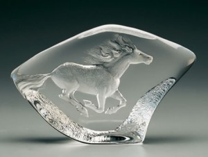 Crystal Horse by Mats Jonasson