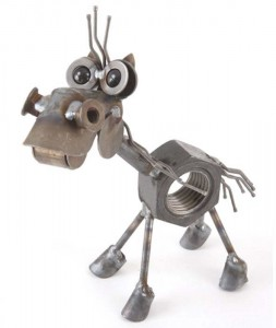 Funny Horse Metal Sculpture