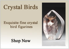 Crystal Bird Figurines
