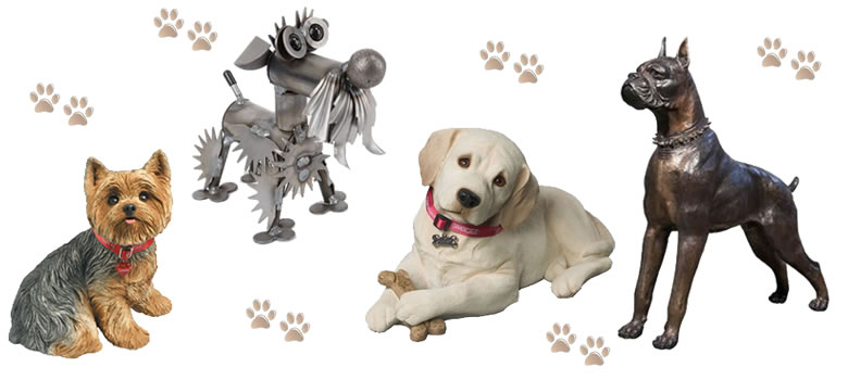 Dog Statues at AllSculptures.com