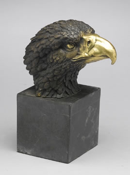 Bronze Eagle Bust, Small