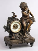 Angel/Cherub Bronze Clock