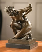 Art Deco Girl- Nude Bronze Statue
