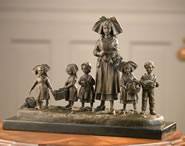 Mother With Five Children- Bronze Statue