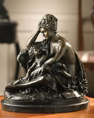 Mother Sitting With Baby Bronze Sculpture