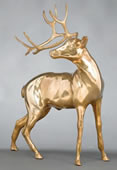 Bronze Deer Sculpture