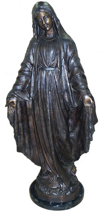 Bronze Lady of Grace Sculpture