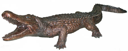 Bronze Crocodile Sculpture, Extra Large