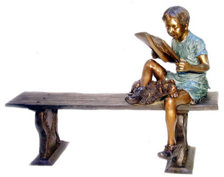 Boy on Bench Reading