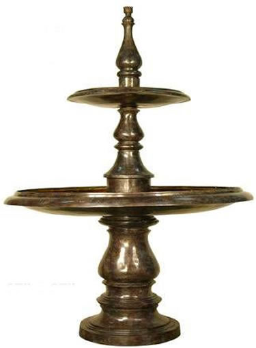 Two Tier Bronze Fountain