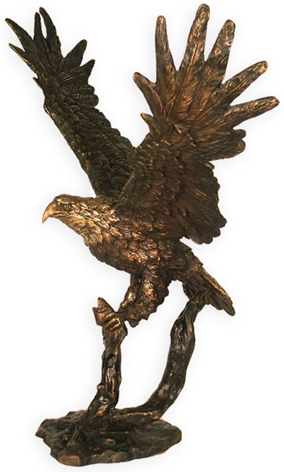 Bronze Eagle with Fish