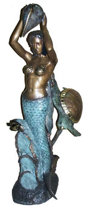 Mermaid with Conch Shell