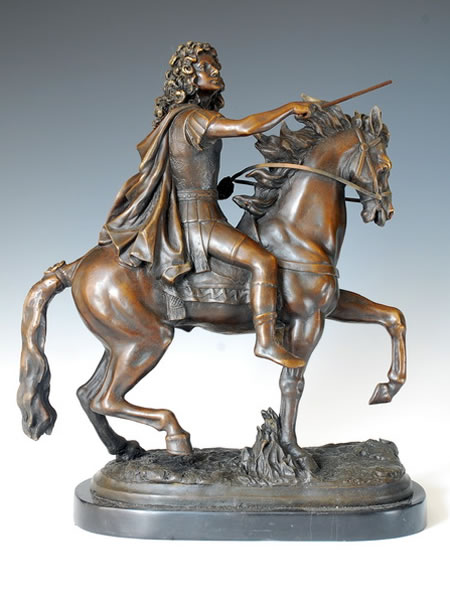 Ancient Warrior on Horse- Bronze Statue