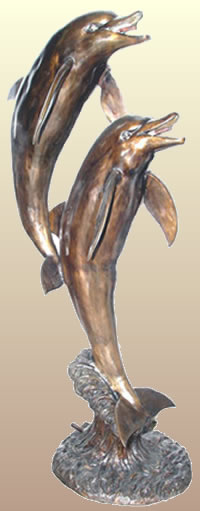 Bronze Jumping Dolphin Fountain