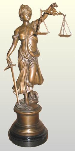 Blind Lady Justice Statue In Bronze Bronze Bqd392