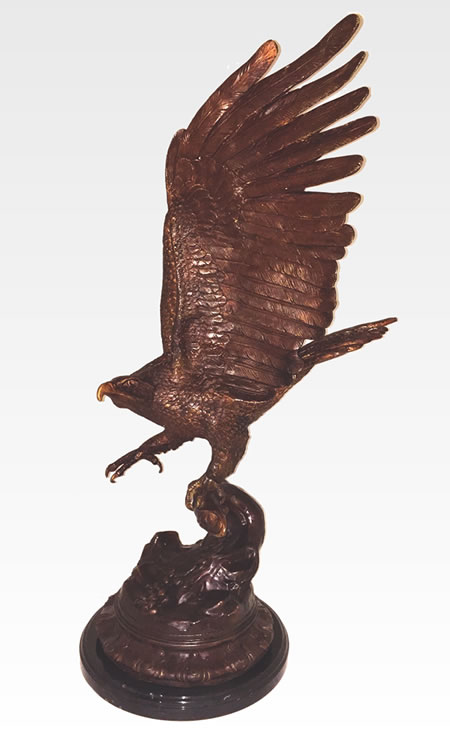 Bronze Eagle Sculpture- 46 Inch