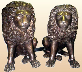 Bronze Lion Pair
