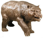 Walking Bear Sculpture In Bronze
