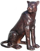 Bronze Sitting Cheetah Sculpture