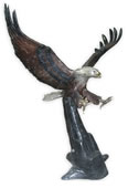 Bronze Eagle Landing Sculpture- Extra Large