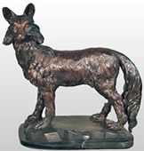 Bronze Fox Sculpture