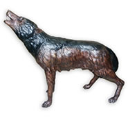 Howling Wolf Sculpture- Bronze