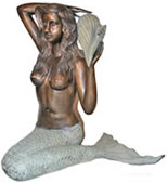 Sitting Mermaid with Conch Shell