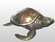 Bronze Sea Turtle Sculpture