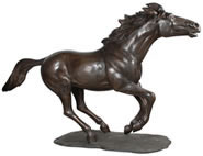Bronze Running Horse Sculpture, Large