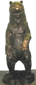 Bronze Standing Bear Sculpture- 63 Inch