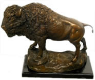 Bronze Buffalo/Bison Statue