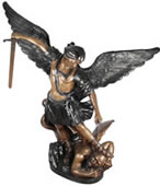 Bronze Saint Michael Sculpture 80 Inch