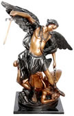 Bronze Saint Michael Sculpture 25 Inch