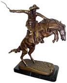 Bronze Bronco Buster Statue 12 Inch