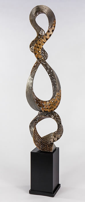Embellished Loops Floor Sculpture- 72.5 Inch