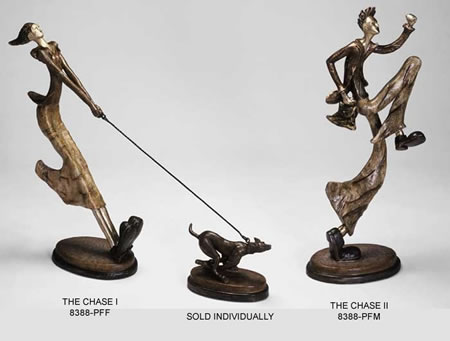 The Chase II- Modern Man Running Sculpture