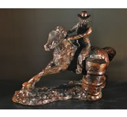 Barrel Racer Sculpture by Attila