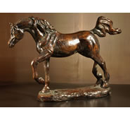 Arabian Stallion Horse Sculpture by Attila