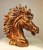Tennessee Stud Horse Bust Sculpture by Attila
