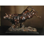 Bucking Bull Sculpture by Attila