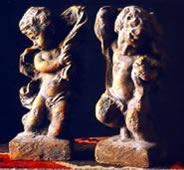 Ancient Cherub Bookends