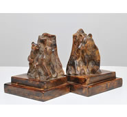 Bear Family Sculpture Bookends by Attila