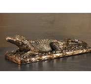 Alligator on Base Sculpture by Attila