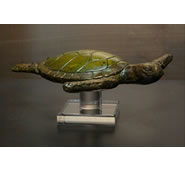 Turtle Sculpture on Acrylic Base by Attila