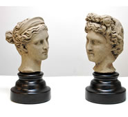 Apollo and Artemis Sculpture Set by Attila