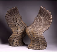 Wings of Icarus Sculpture Pair by Attila
