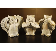 Three Wise Owls Sculpture by Attila